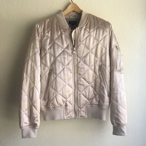 TopShop Satin Quilted Bomber